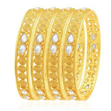 SUKKHI | Sukkhi Royal Jalebi Gold Plated Kundan Bangle For Women