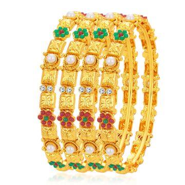 SUKKHI | Sukkhi Ethnic Gold Plated Bangle For Women