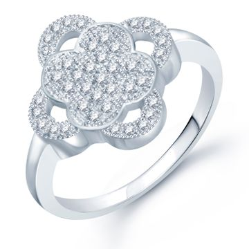 SUKKHI   Sukkhi Lavish Micro Pave Setting Rhodium Plated Cz Ring For Women(325R610)