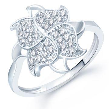 SUKKHI   Sukkhi Astonish Micro Pave Setting Rhodium Plated Cz Ring For Women(326R640)