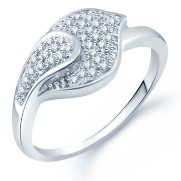 SUKKHI | Sukkhi Modish Micro Pave Setting Rhodium Plated Cz Ring For Women(330R510)