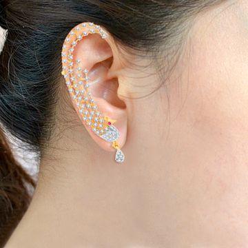 SUKKHI   Sukkhi Sublime Gold And Rhodium Plated Cubic Zirconia Stone Studded Ear Cuff