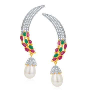 SUKKHI   Sukkhi Creative Gold And Rhodium Plated Cz Ear cuff For Women