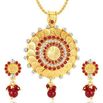 SUKKHI | Sukkhi Fascinating Gold Plated Pendant Set
