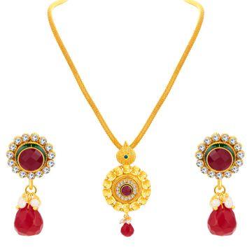 SUKKHI | Sukkhi Ethnic Gold Plated Pendant Set For Women