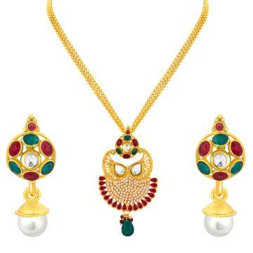 SUKKHI | Sukkhi Exquisite Gold Plated Pendant Set For Women