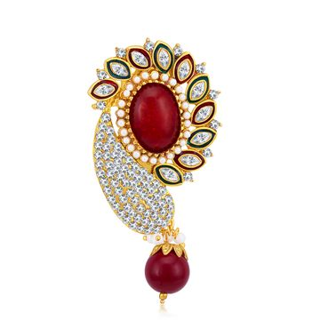 SUKKHI | Sukkhi Glamorous Gold Plated Austrian Diamond Brooch For Women