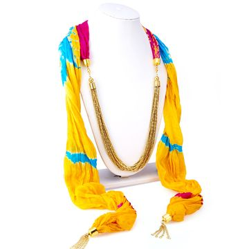 SUKKHI | Sukkhi Finely Silk Detachable Scarf Necklace With Chain For Women