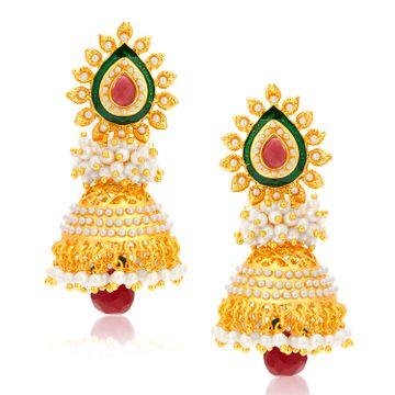 SUKKHI | Sukkhi Fabulous Gold Plated Pearl Jhumki Earring For Women