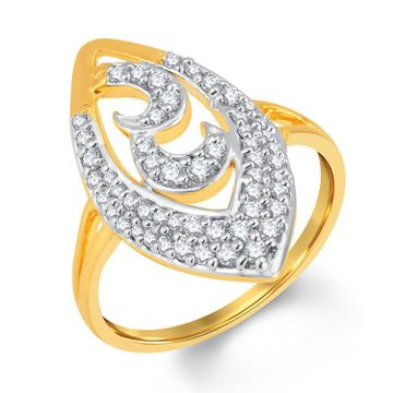 SUKKHI | Sukkhi Astonish Gold And Rhodium Plated Cubic Zirconia Ring