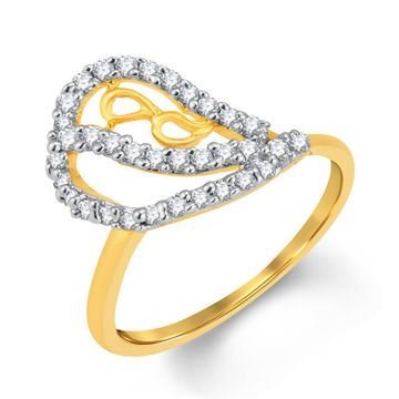 SUKKHI | Sukkhi Glimmery Gold And Rhodium Plated Cubic Zirconia Ring