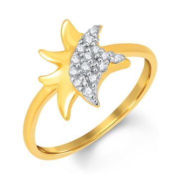 SUKKHI   Sukkhi Delightful Gold And Rhodium Plated Cubic Zirconia Ring