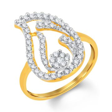 SUKKHI   Sukkhi Gorgeous Gold And Rhodium Plated Cubic Zirconia Ring