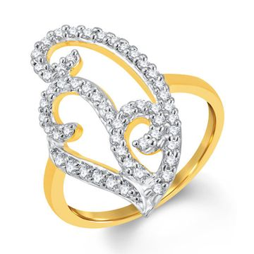 SUKKHI | Sukkhi Charming Gold And Rhodium Plated Cubic Zirconia Ring