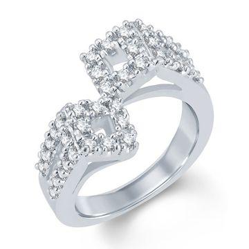 SUKKHI   Sukkhi Glorious Rhodium Plated Cubic Zirconia Ring