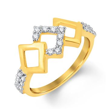 SUKKHI | Sukkhi Designer Gold And Rhodium Plated Cubic Zirconia Ring