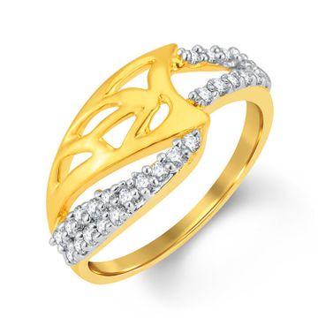 SUKKHI | Sukkhi Fashionable Gold And Rhodium Plated Cubic Zirconia Ring