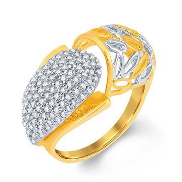 SUKKHI | Sukkhi Fancy Gold And Rhodium Plated Cubic Zirconia Ring