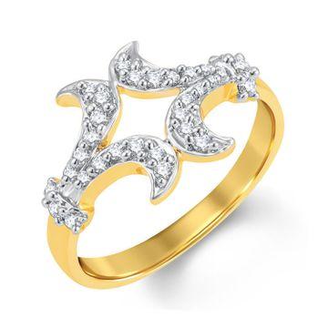 SUKKHI   Sukkhi Glittery Gold And Rhodium Plated Cubic Zirconia Ring