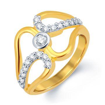 SUKKHI | Sukkhi Blossomy Gold And Rhodium Plated Cz Ring