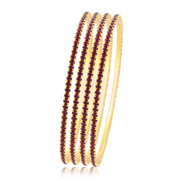 SUKKHI | Sukkhi Delightful Maroon Stone Studded Bangle For Women