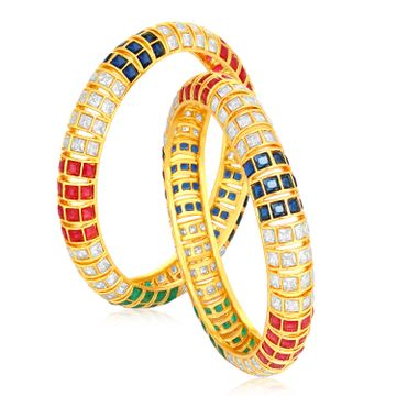 SUKKHI | Sukkhi Glittery Gold Plated Bangle Set For Women (Set of 2)
