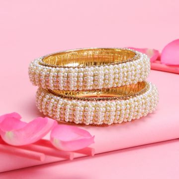 SUKKHI | Sukkhi Glorious Gold Plated Pearl Bangle for Women (Set of 2)