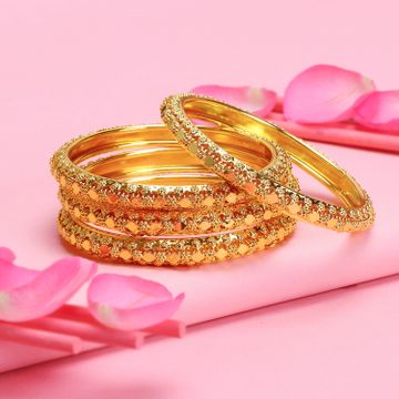 SUKKHI | Sukkhi Stunning Gold Plated Bangle For Women (Set of 4)