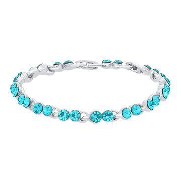 SUKKHI | Sukkhi Astonish Rhodium Plated Blue Bracelet for women