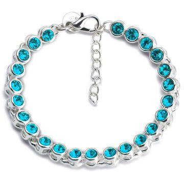 SUKKHI | Sukkhi Lavish Rhodium Plated Aqua Blue Bracelet for women