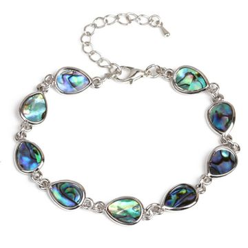 SUKKHI | Sukkhi Ritzy Aqua Blue Pear Crystal Stone Rhodium Plated Bracelet for Women