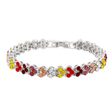 SUKKHI | Sukkhi Resplendent Colour Stone Rhodium Plated Multi Colour Bracelet for Women