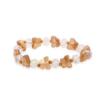 SUKKHI   Sukkhi Exotic Butterfly Crystal Stone Rhodium Plated Multi Colour Bracelet for Women