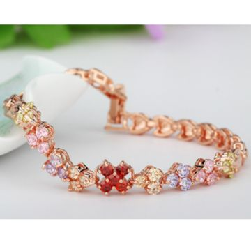SUKKHI | Sukkhi Sleek Crystal Stone Gold Plated Multi Colour Bracelet for Women