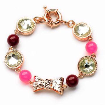 SUKKHI   Sukkhi Glimmery Crystal Stone Gold Plated Multi Colour Bracelet for Women