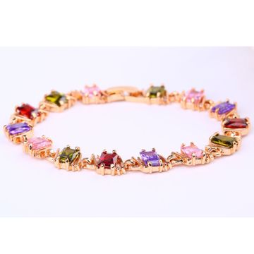 SUKKHI   Sukkhi Gorgeous Crystal Stone Multi Colour Gold Plated Bracelet for Women