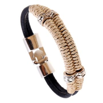 SUKKHI | Sukkhi Adorable Black Adjustable Leather Bracelet for Men