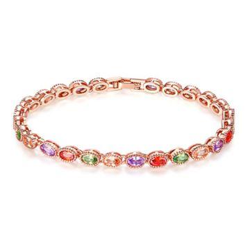SUKKHI   Sukkhi Exclusive Adjustable Crystal Multi Colour Gold Plated Bracelet for Women