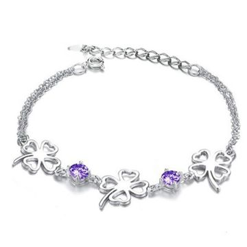 SUKKHI | Sukkhi Astonish Floral Crystal Rhodium Plated Bracelet for Women
