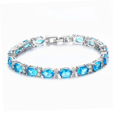 SUKKHI | Sukkhi Shimmering Crystal Rhodium Plated Bracelet for Women