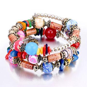 SUKKHI   Sukkhi Dazzling Beads Rhodium Plated Multi Colour Bracelet for Women