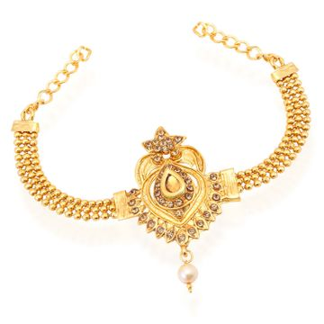 SUKKHI | Sukkhi Astonish Pearl Gold Plated LCT Stone Bajuband For Women