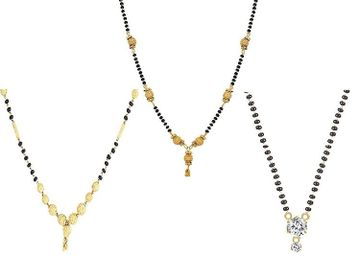 SUKKHI | Sukkhi Sparkling Gold Plated Cz Solitaire Mangalsutra Combo For Women