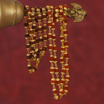 SUKKHI   Sukkhi Ethnic Gold Plated Rudraksh Chain Combo For Men