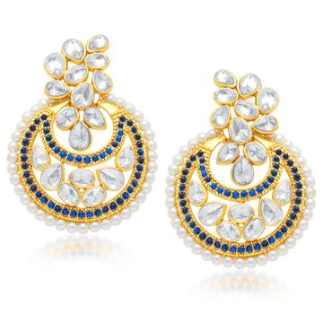 SUKKHI | Sukkhi Stunning Gold Plated Chandbali Earring For Women