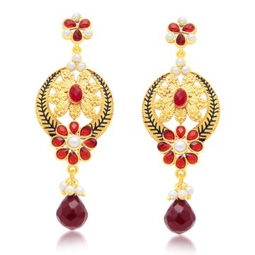 SUKKHI | Sukkhi Intricately Crafted Gold Plated Dangle Earring For Women