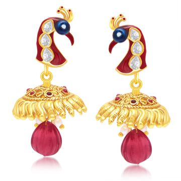 SUKKHI | Sukkhi Intricately Peacock Gold Plated Dangle Earring For Women