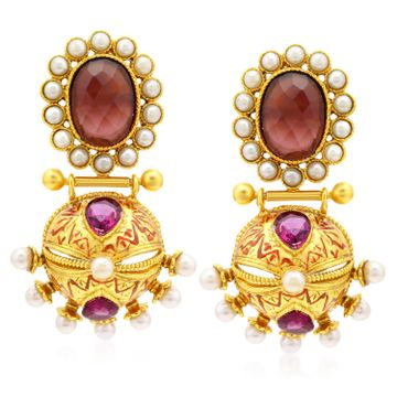 SUKKHI | Sukkhi Astonish Gold Plated Dangle Earrings For Women