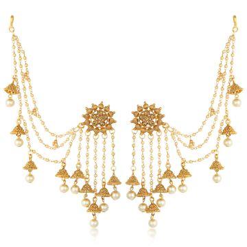 SUKKHI | Sukkhi Ethnic Gold Plated Bahubali Inspired Long Chain Jhumki Earrings For Women
