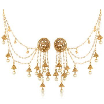SUKKHI | Sukkhi Delightful Gold Plated Bahubali Inspired Long Chain Jhumki Earrings For Women